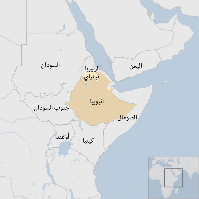 خريطة منطقة القرن الإفريقي