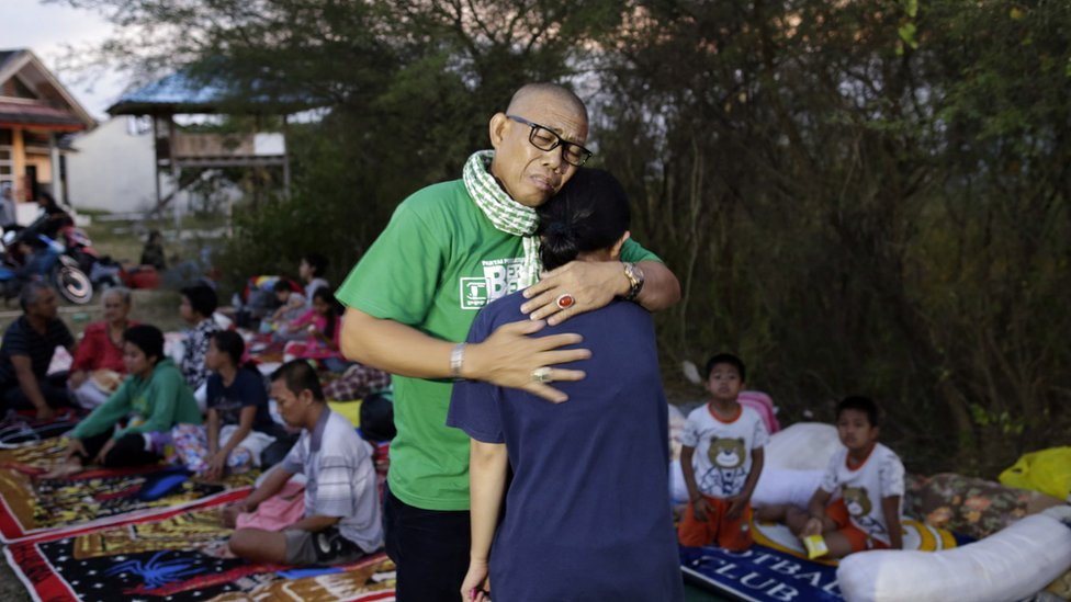 Secuelas del terremoto en Indonesia