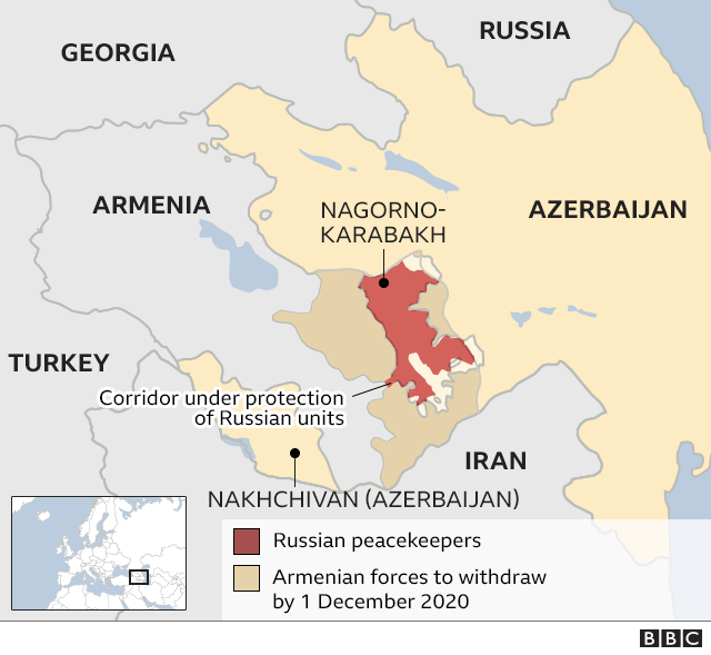 Map showing where Russian troops will be deployed