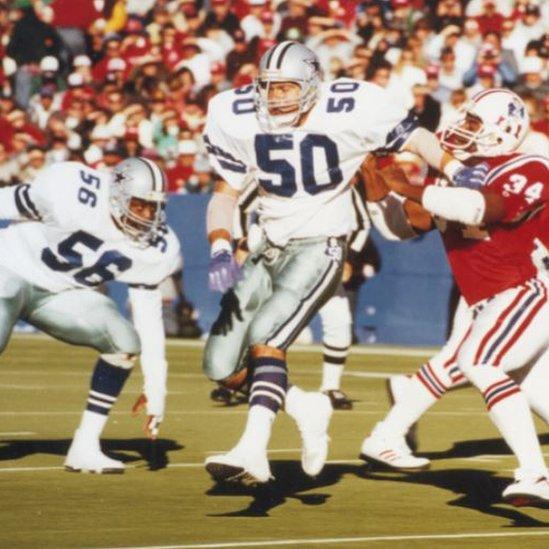 Jeff Rohrer playing football