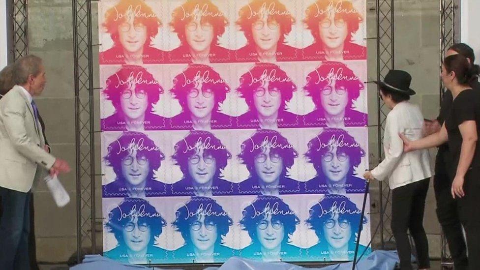 BBC News - US Postal Service issues commemorative John Lennon stamp