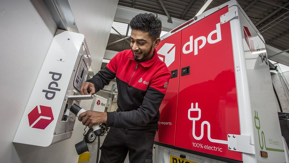 DPD says it will only purchase electric vehicles in the uture
