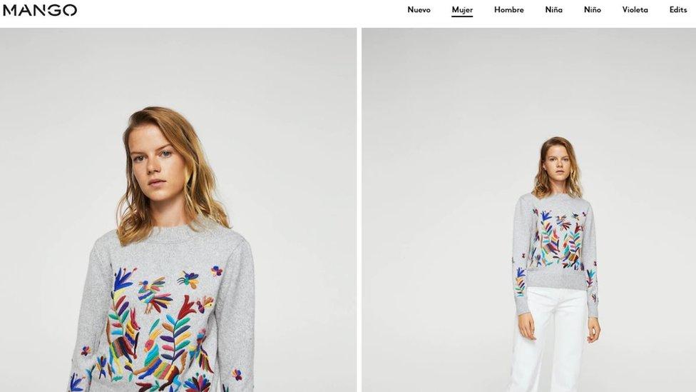 Un suéter en el catálogo de Mango