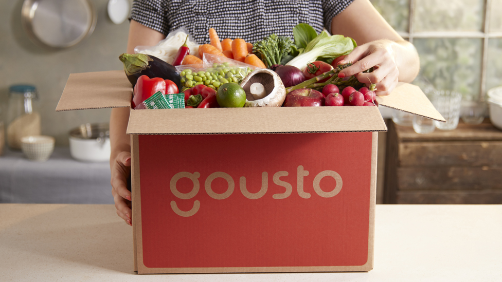 A Gousto delivery box