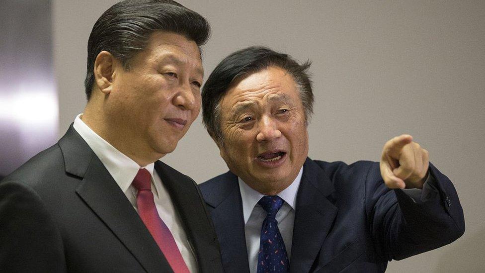 Xi Jinping y Ren Zhengfei en Londres, 2015.