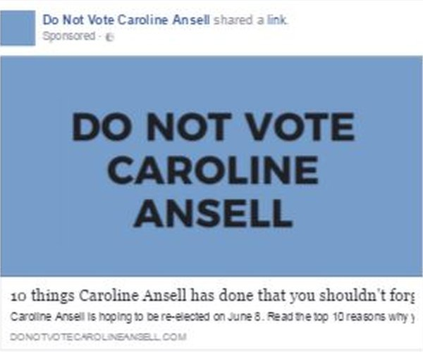 "An ad from ""Do not vote Caroline Ansell"""
