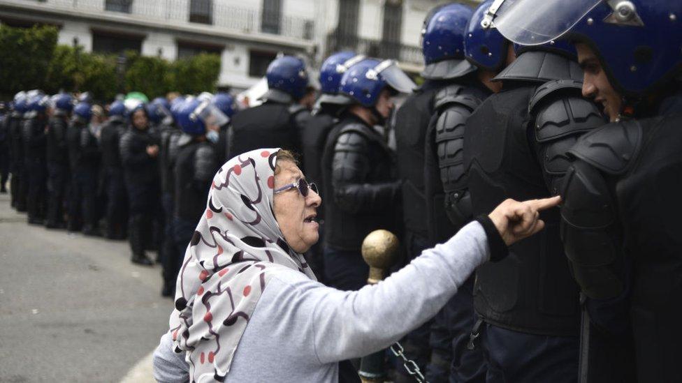 Protesta en Argelia