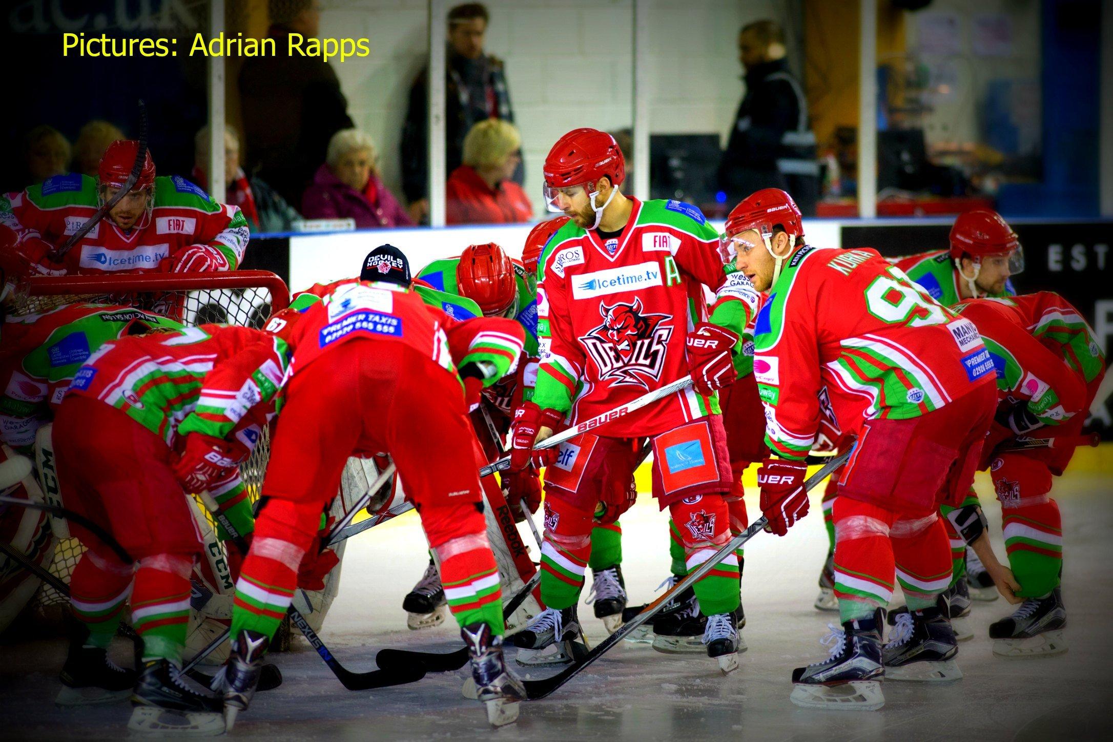 Cardiff Devils against Edinburgh Capitals