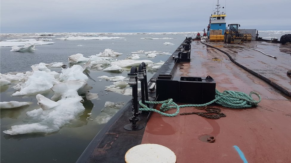 A Fathom Marine vessel operation in the Arctic