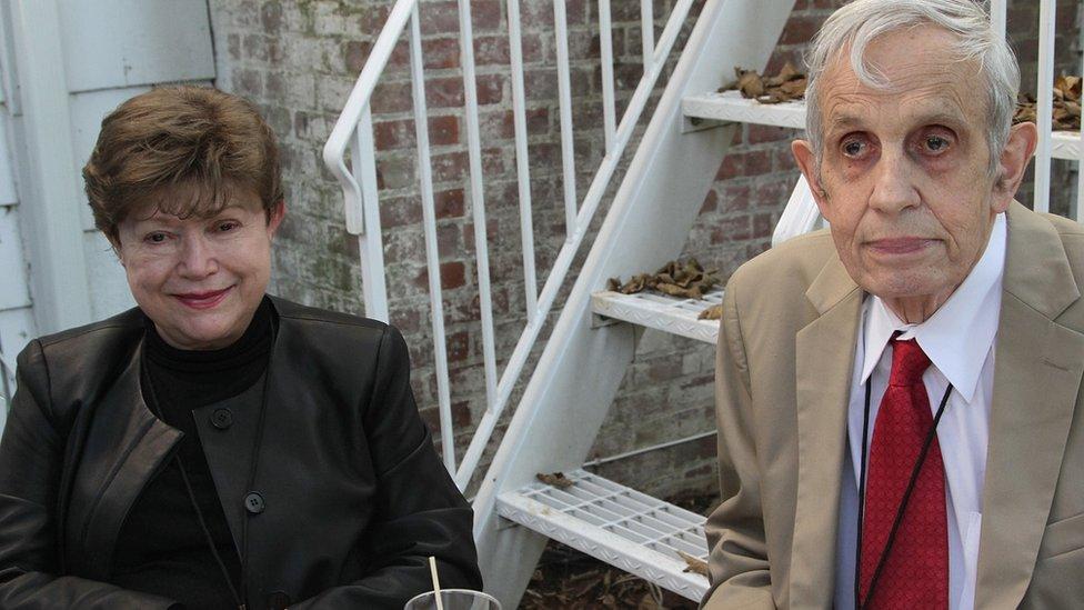 Alicia Lardé y John Nash en 2012