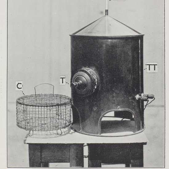 The copper boiler used for experiments