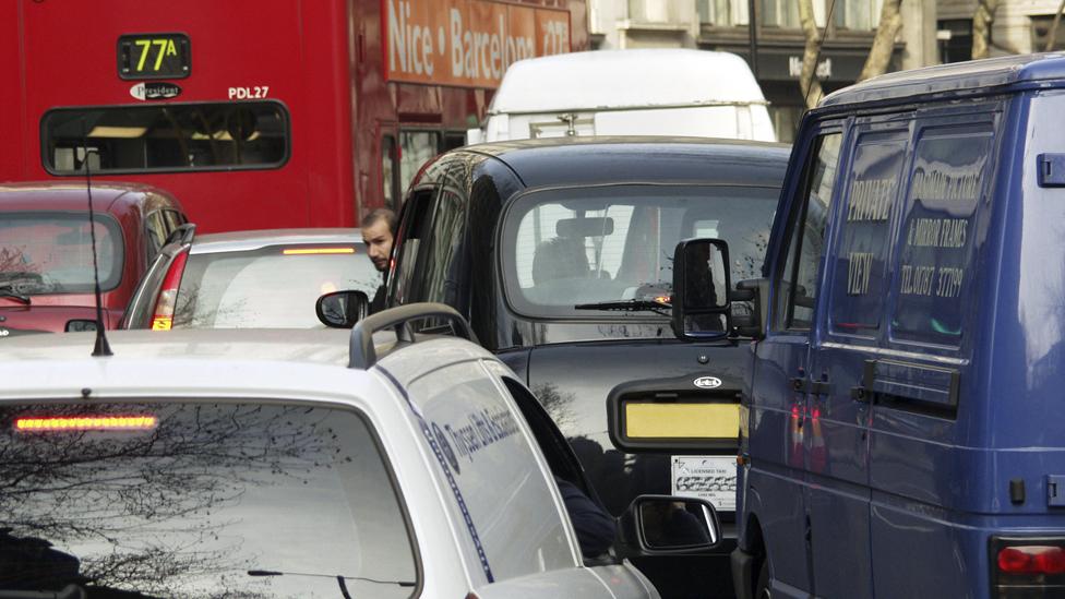 Traffic jam in central London