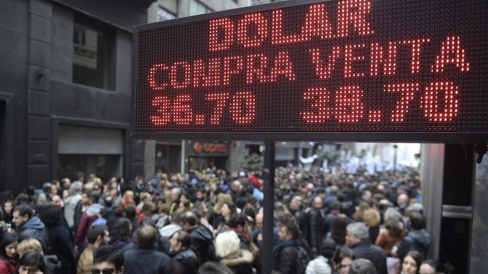 Protesta en Argentina