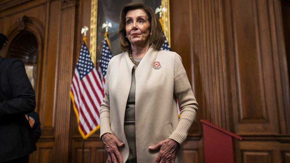 La presidenta de la Cámara de Representantes Nancy Pelosi.