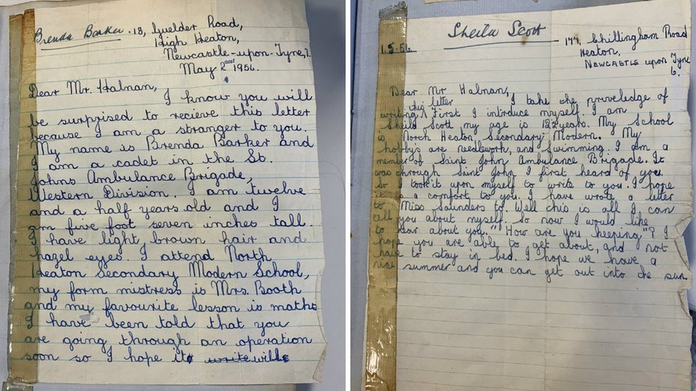 The letters written by Brenda Barker and Sheila Scott