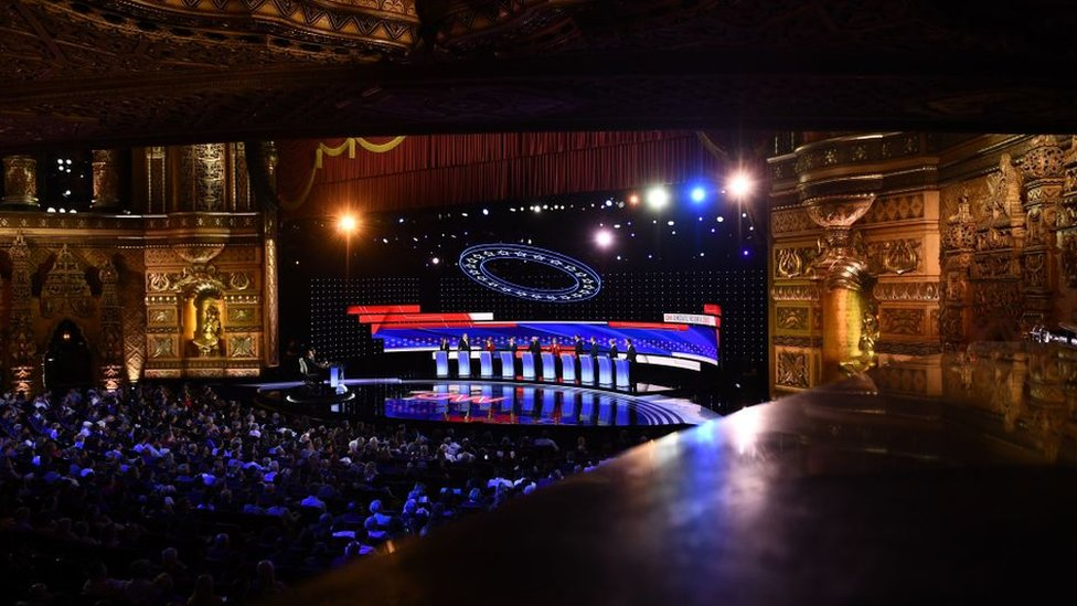 The Detroit debate stage