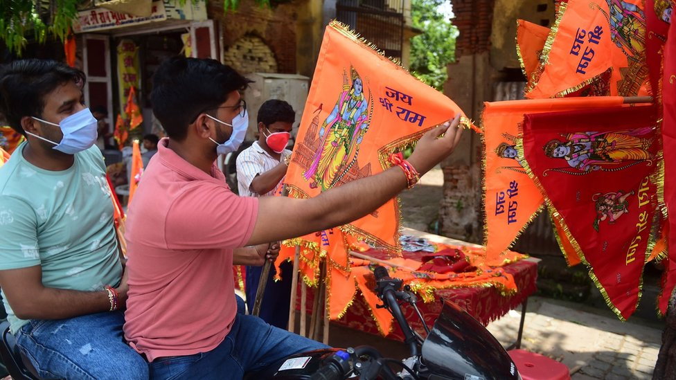 Man buys Lord Ram flag ahead of the inauguration ceremony