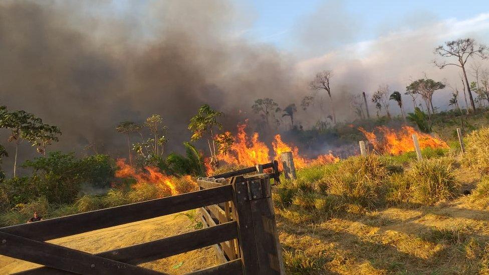 Incendio en Machadinho D'Oeste
