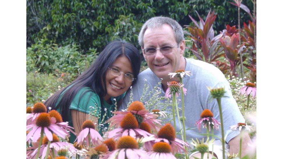 Paul Headley and his wife