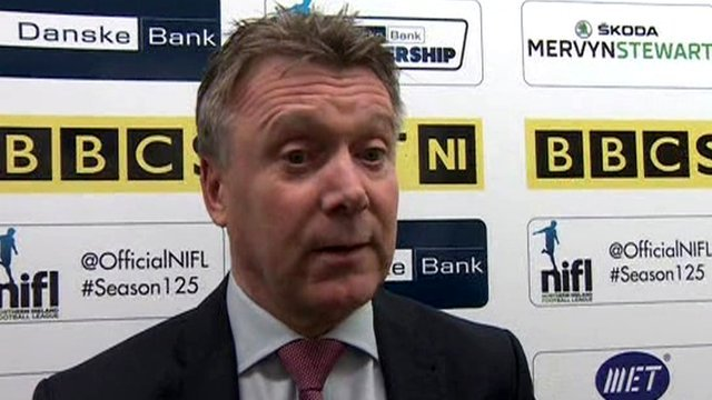 Portadown assistant manager Kieran Harding