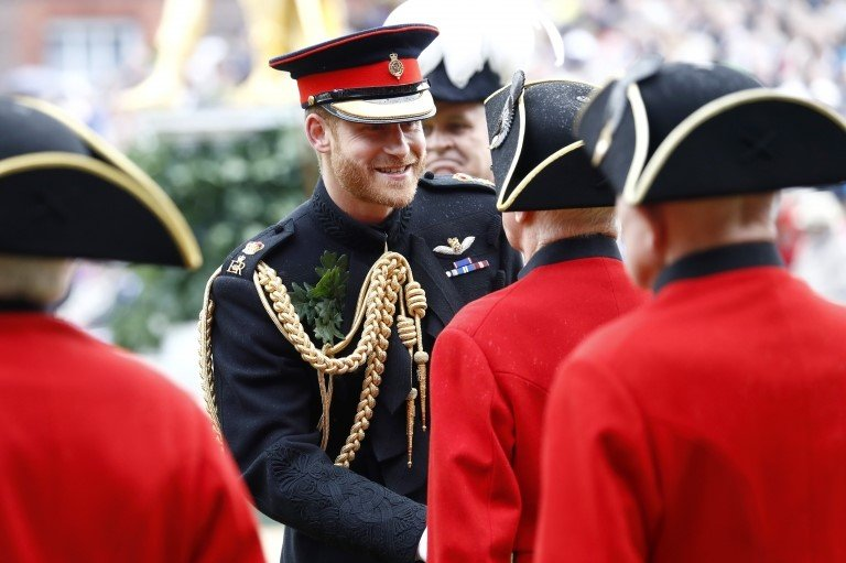 The Duke of Sussex greets veterans at the Royal Hospital Chelsea