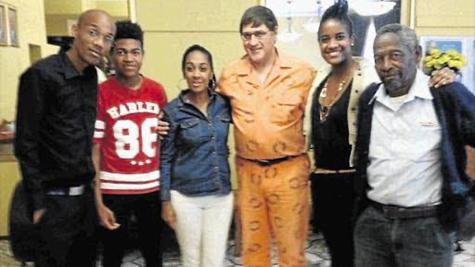 Candice and her family at the meeting with Eugene de Kock