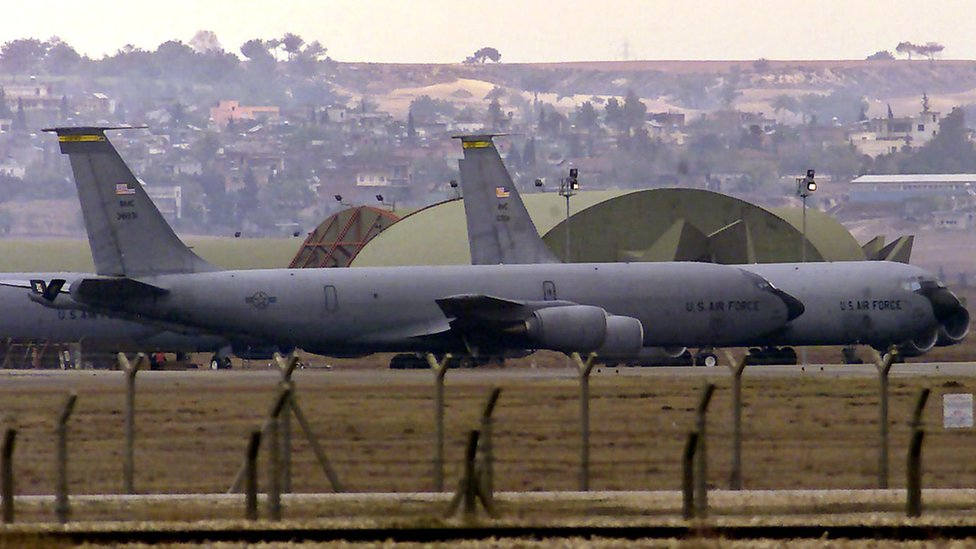 The US-led coalition fighting IS is based at Incirlik (file pic 2005)
