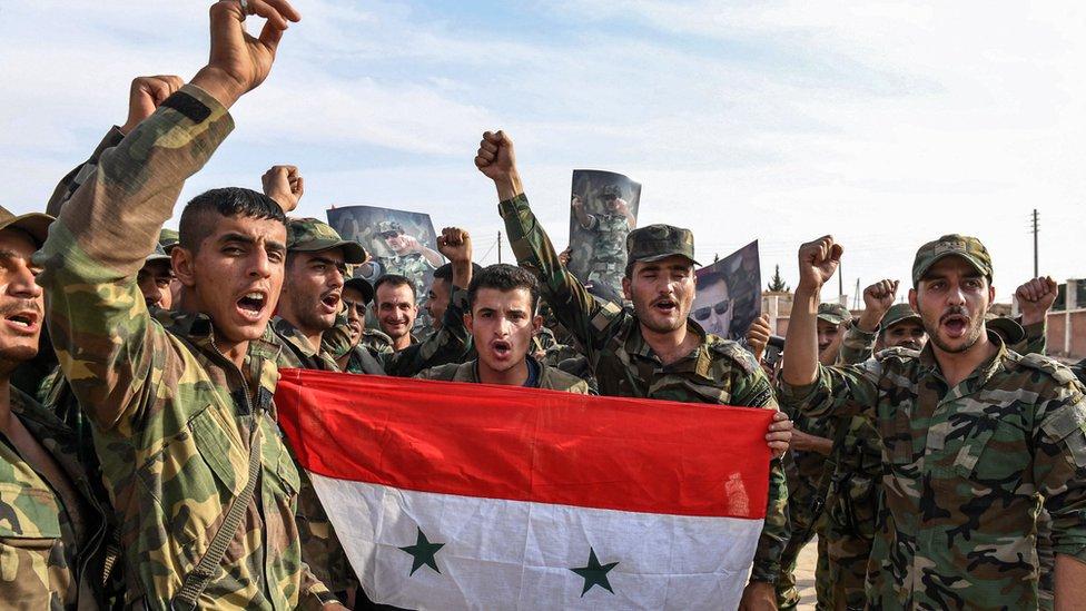 قوات الجيش السوري تمكنت من دخول المنطقة الشمالية بعد الاتفاق مع الأكراد