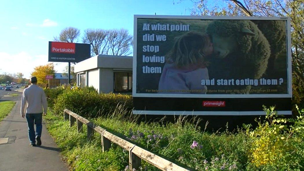 Vegan billboards: Middlesbrough man funds signs