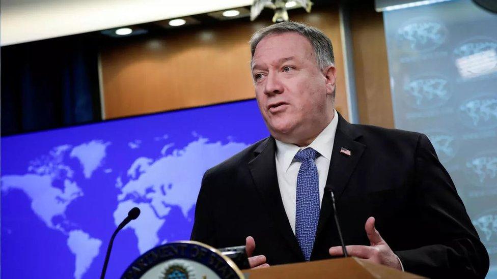 """美國國務卿彭佩奧表示,美國確定新冠病毒源自中國,""""我們知道武漢有個病毒研究所…有很多事情有待查明。美國政府正在努力弄清真相。"""""""