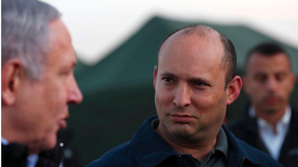 Benjamin Netanyahu y Naftali Bennett.