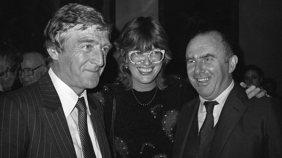 James with Michael Parkinson and Janet Street Porter in 1982