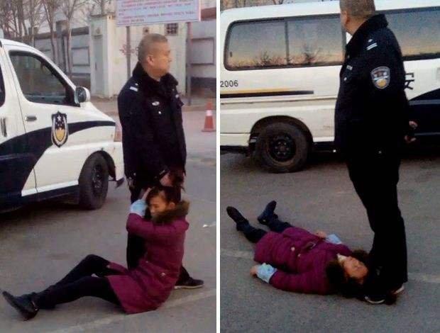 2014年,討薪女工周秀雲因山西太原警方的暴力執法而死亡。