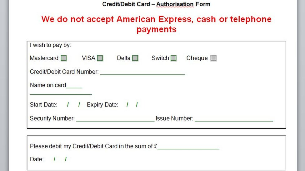 Payment form
