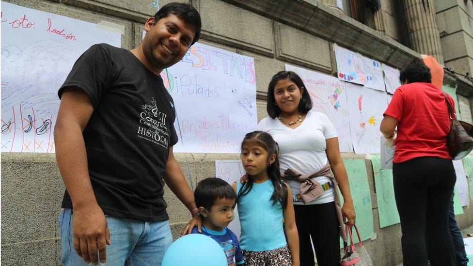 Paula Menchu and her family in Guatemala City - September 2015