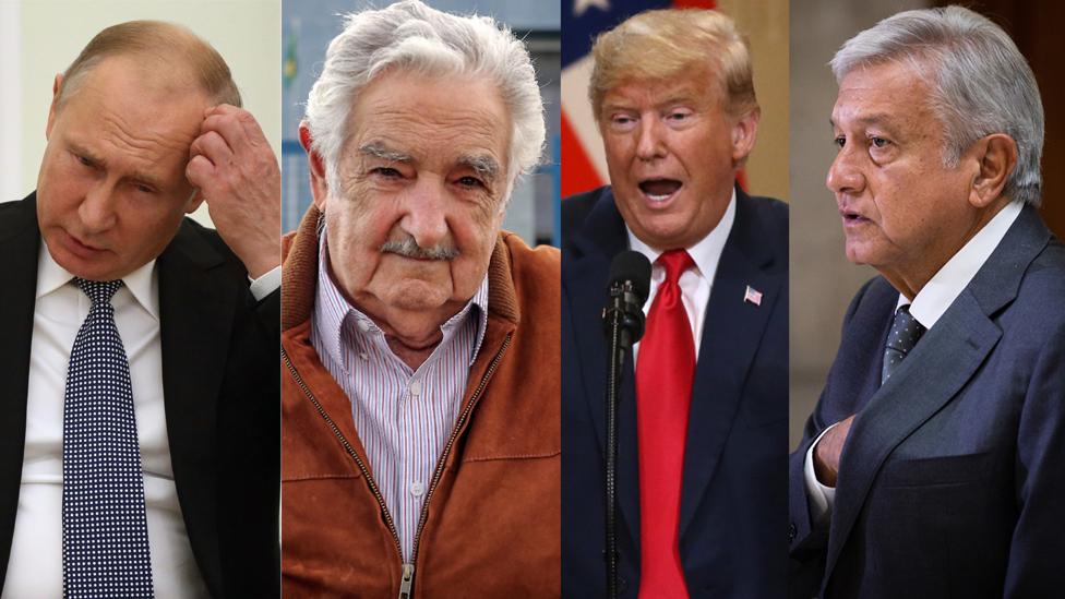 Vladimir Putin, Mujica, Donald Trump, AMLO