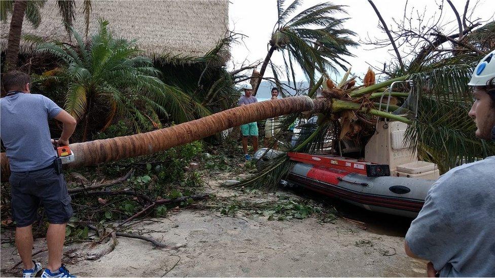 Necker Island damage