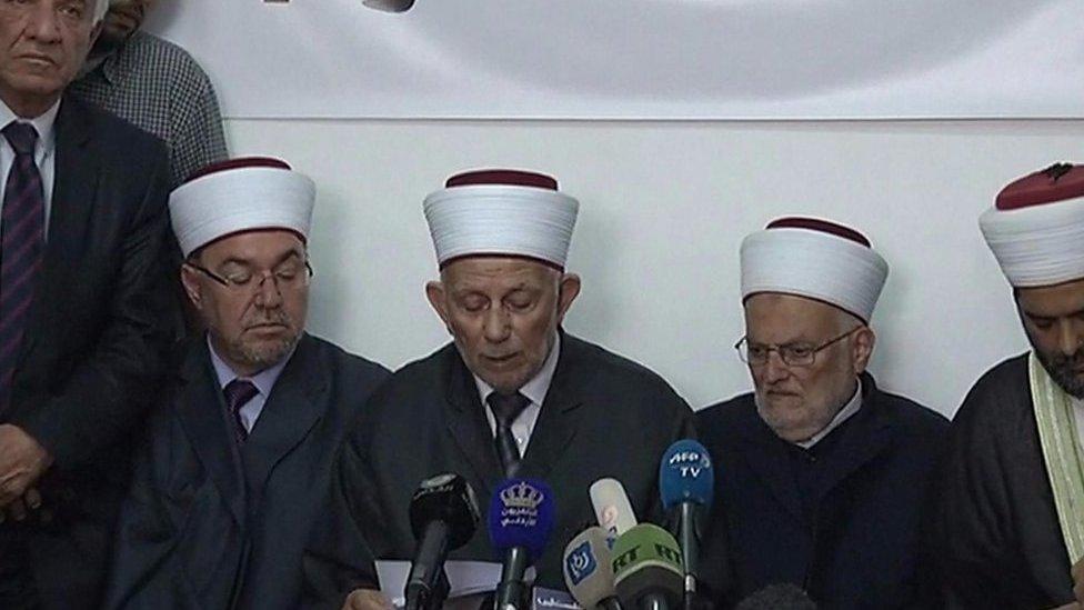 الشيخ عبد العظيم سلهب رئيس المجلس الأعلى للأوقاف في القدس