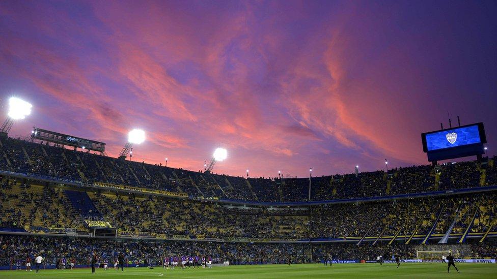 The Bombonera Stadium in Argentina