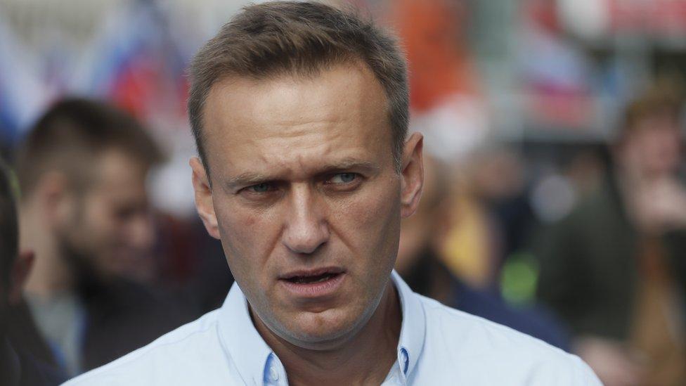 Aleksej Navaljni na protestu 20. jula u Moskvi