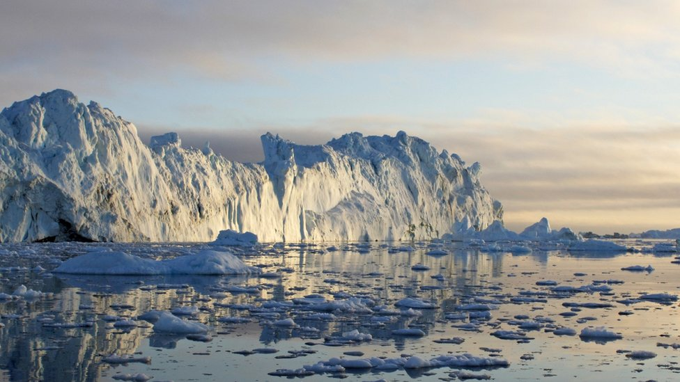 Plataforma de hielo en Groenlandia
