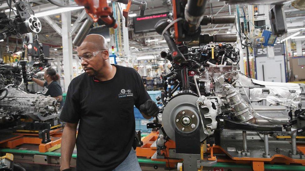 美國的一個汽車工廠