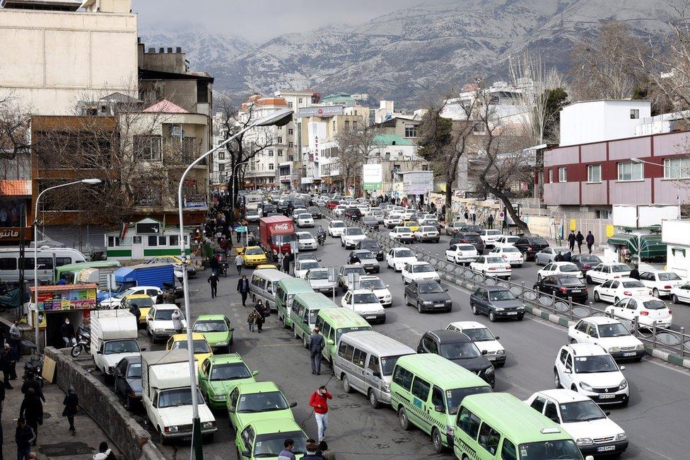 Vista de Teherán, Irán, en enero de 2021.