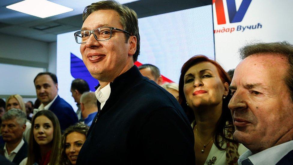 Aleksandar Vućić i Bogoljub Karić