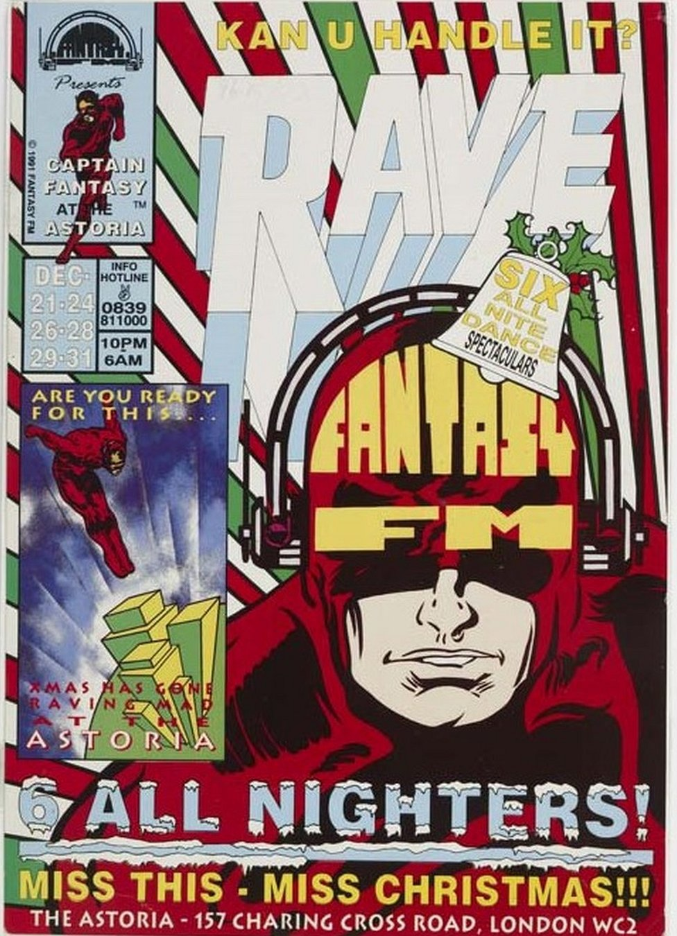 Poster for rave at the Astoria