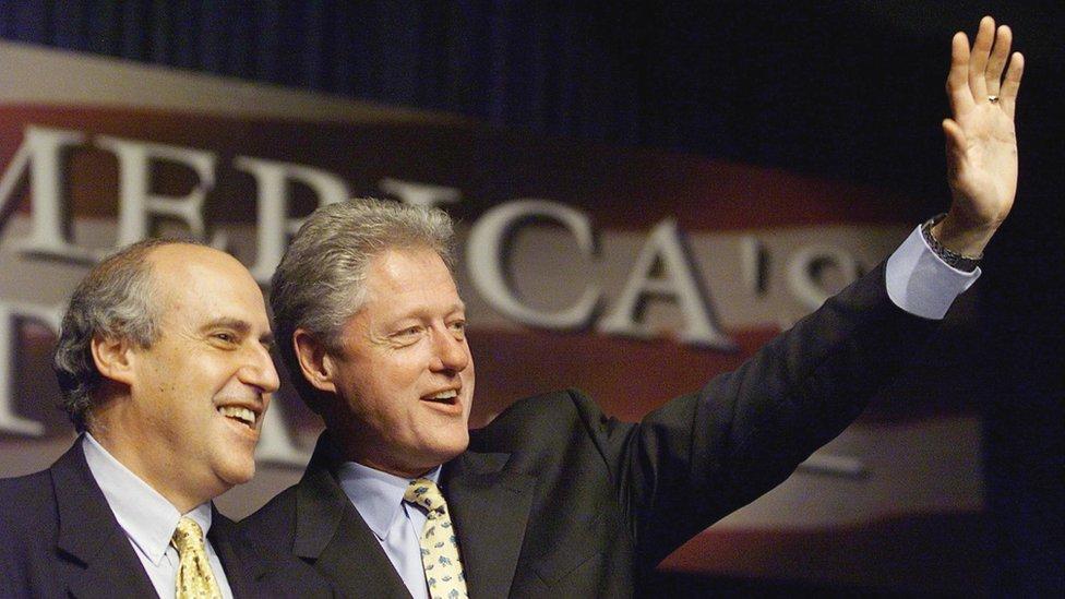 Dan Glickman y Bill Clinton