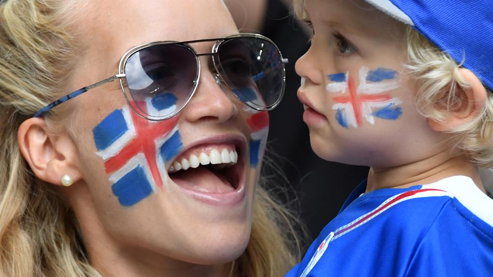 Iceland football fans in France, June 2016