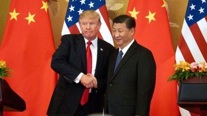 El presidente de Estados Unidos, Donald Trump, y su homólogo chino, Xi Jinping,