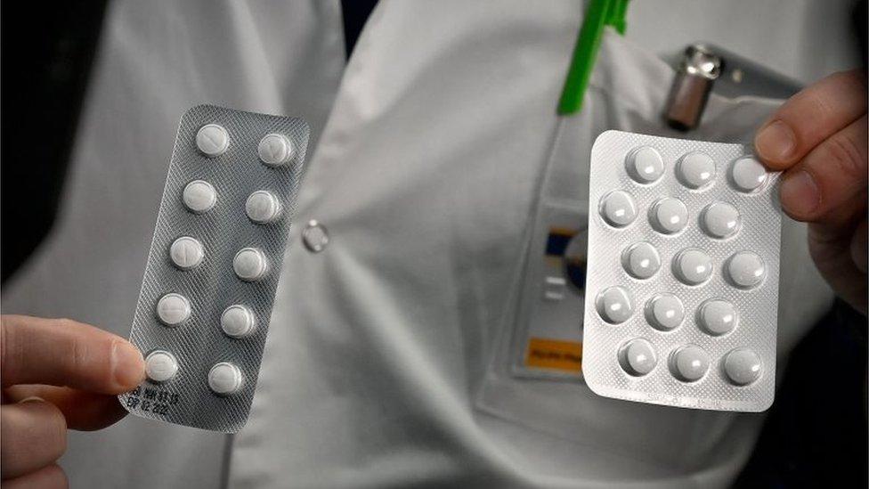 Tabletas de hidroxicloroquina