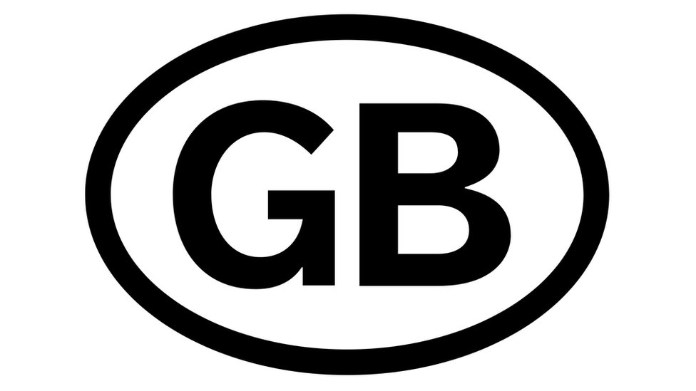 GB car sticker